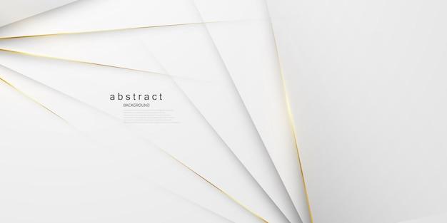 Абстрактный белый и серый фон с великолепным украшением золотой линией.