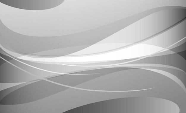 抽象的な白とグレーの曲線の背景