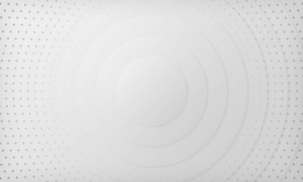 白とグレーの抽象的なグラデーションの背景。ハーフトーンドットデザインの背景を持つテクスチャー。