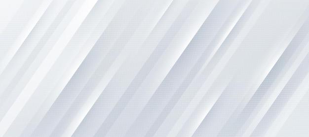 Абстрактный белый и серый градиентный фон с динамическими диагональными полосами и узором из точек Premium векторы