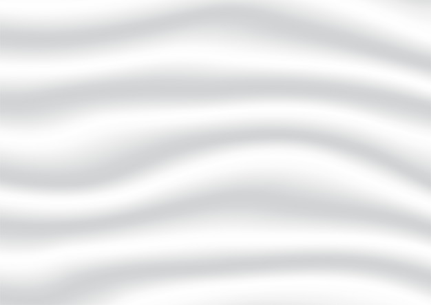 Абстрактный белый и серый цвет градиента фона. атласные и шелковые ткани.