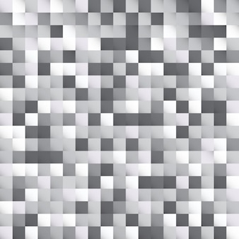 Abstract white and gray squares pattern background