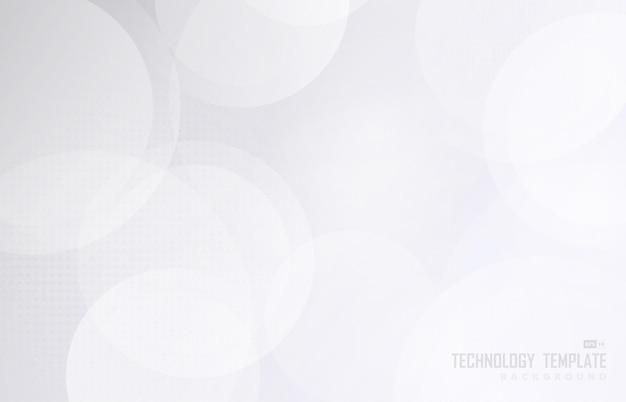 抽象的な白とグレーの円パターンの装飾的なデザイン