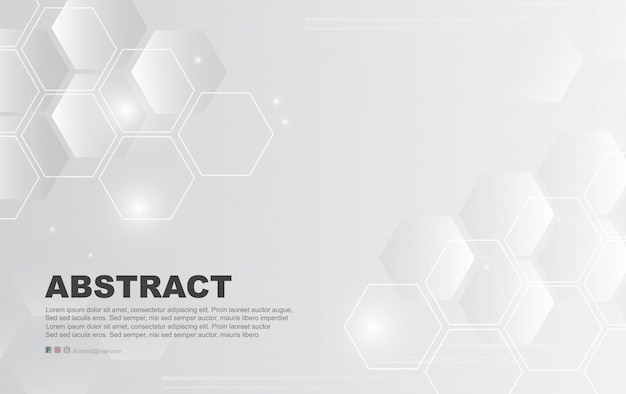 Abstract white background of hexagon