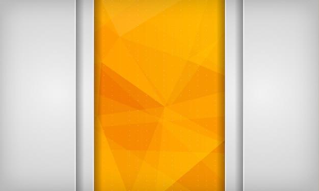 Abstract white background on orange polygonal texture