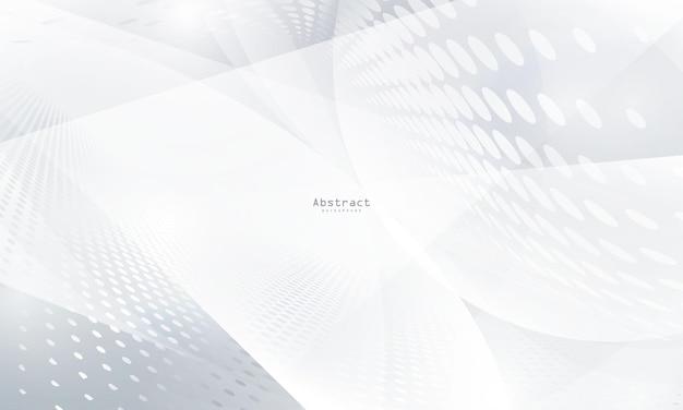 ダイナミックな抽象的な白い背景のポスター。技術ネットワークベクトル図。