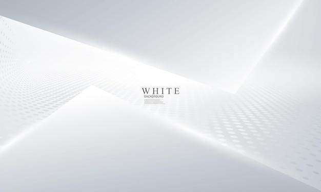 동적 추상 흰색 배경 포스터입니다. 기술 네트워크 벡터 일러스트 레이 션.