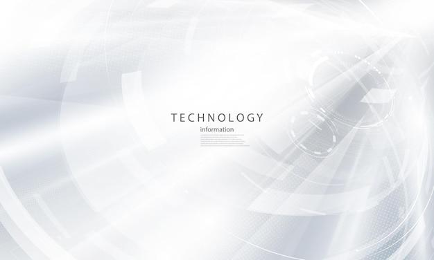 Абстрактный белый фон плакат с динамической. технологическая сеть