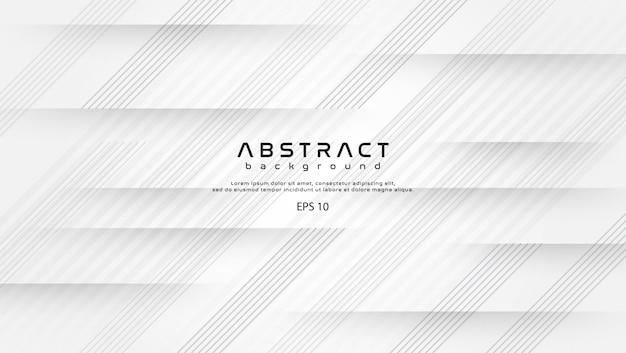 Abstract white background shapes