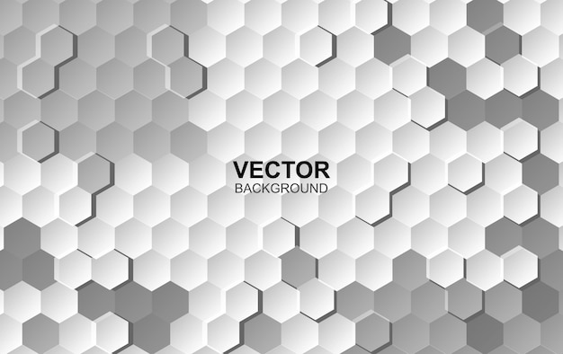 Abstract white background surface hexagon