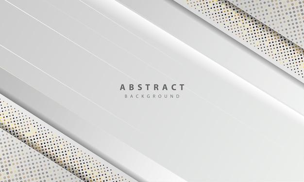 抽象的な白い背景ベクトル。エレガントなコンセプトデザインベクトル。シルバーのキラキラドット要素の装飾が施されたテクスチャー。