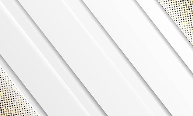 抽象的な白い背景ベクトル。エレガントなコンセプトデザインベクトル。シルバーのキラキラドット要素の装飾が施されたテクスチャー。 Premiumベクター