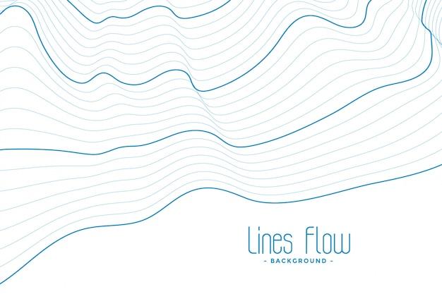 Абстрактный белый фон с голубыми контурными линиями