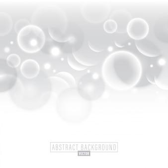 ホワイト抽象的なサークル泡ベクトルの背景