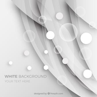 泡のある抽象的な白い背景