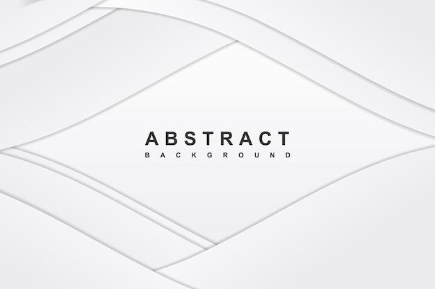 斜めの波の装飾と抽象的な白い背景