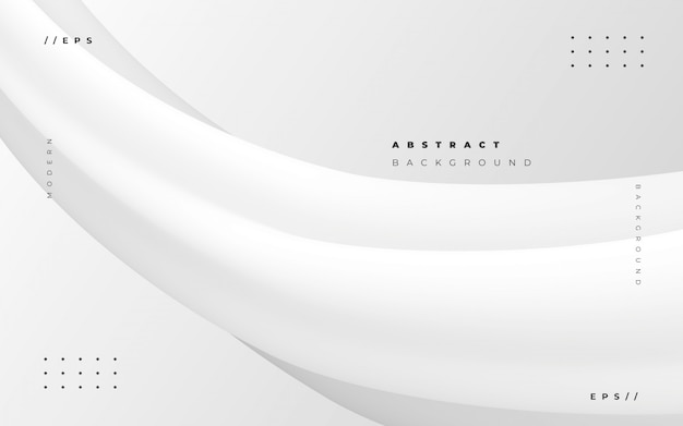 Abstract white background with fluid style