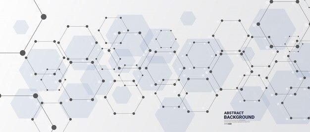 Аннотация белый фон с шестиугольными линиями.