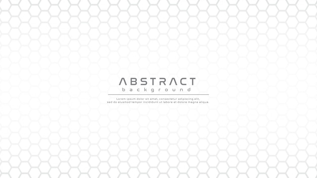 Abstract white background with hexagonal shapes