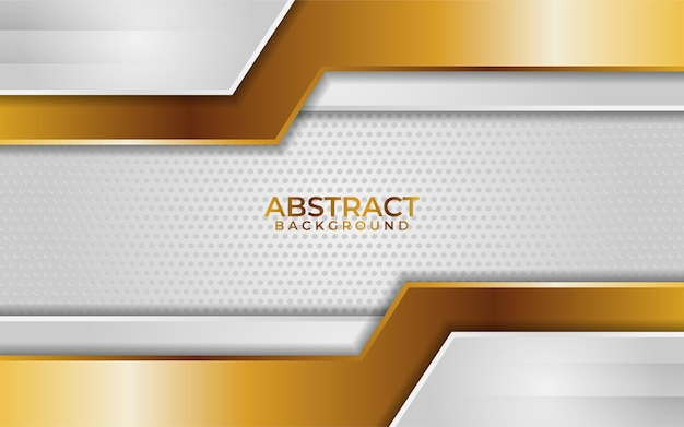 Abstract white background with line gold gradient