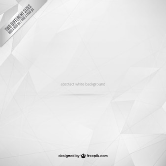 Abstract white background with polygons