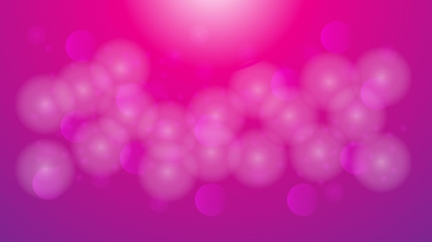 Abstract white blurred bokeh on pink and purple gradient color background for decorative design