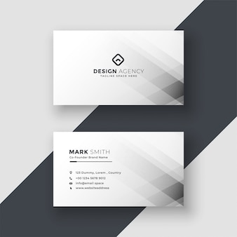 Abstract white business card design