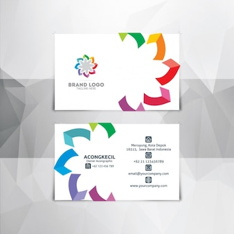 Abstract white business card