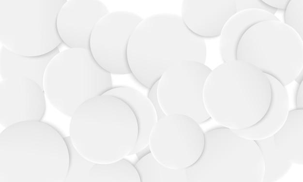レイヤーを重ねる抽象的な白い円。バナーのウェブサイトの簡単なベクトルイラスト。