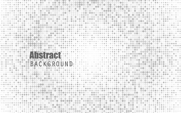 Abstract white color halftone background. black and dark grey.