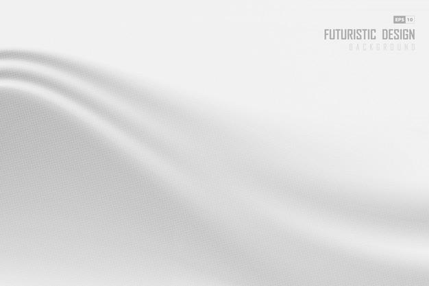 Абстрактный белый дизайн шелковой картины с фоном полутонов.