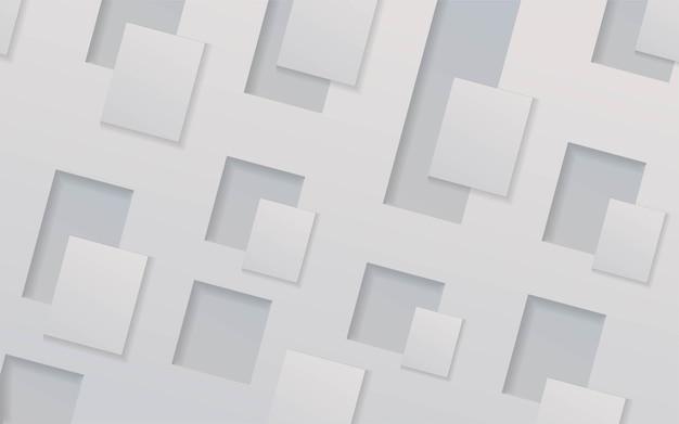 추상 흰색 차원 배경 디자인