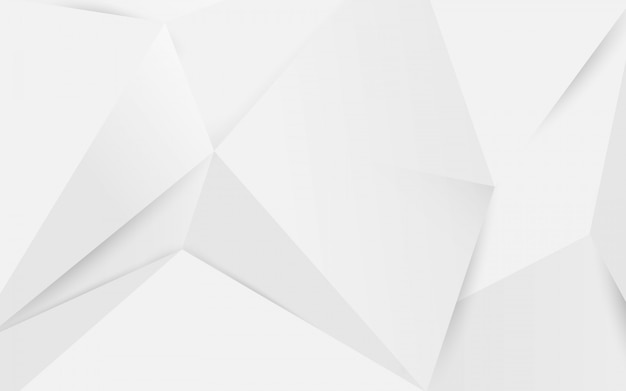 Abstract white geometric polygonal 3d background.