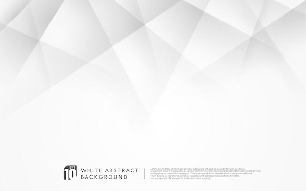 추상 흰색 기하학적 모양 배경 디자인