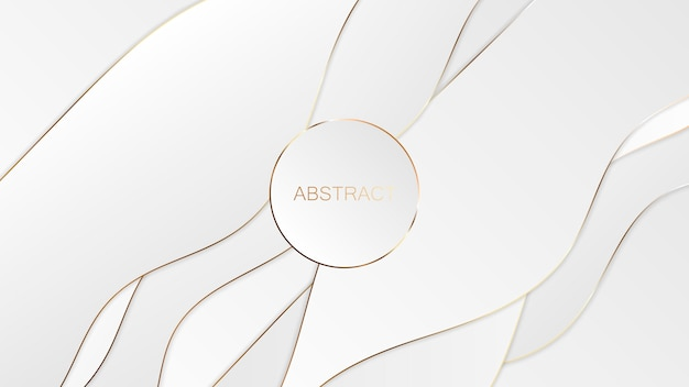 Abstract white gold luxury background.