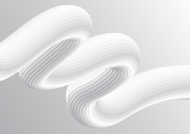 抽象的な白いグラデーション流体ブレンドデザイン