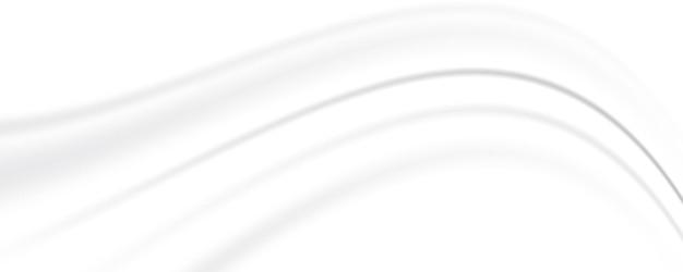 抽象的な白灰色の背景白いシルクサテンの背景波の滑らかなテクスチャの背景