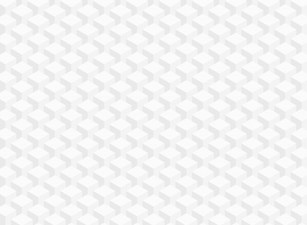 Abstract of white gray geometric cube pattern data background.