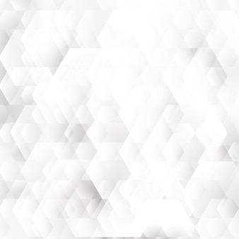 Abstract white and gray geometric hexagons shapes