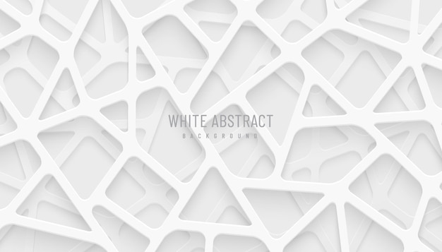 Abstract white and gray geometric line overlap layers on background modern tech futuristic style