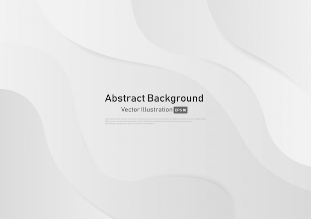 Abstract white and gray gradient color curve background.