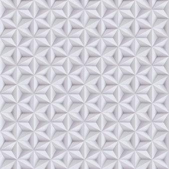 Abstract white, grey background, paper seamless pattern with stars, geometric texture.