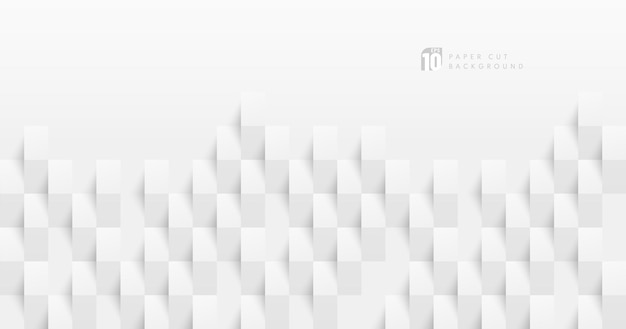 Абстрактный белый & серый цвет бумаги вырезать дизайн фона.