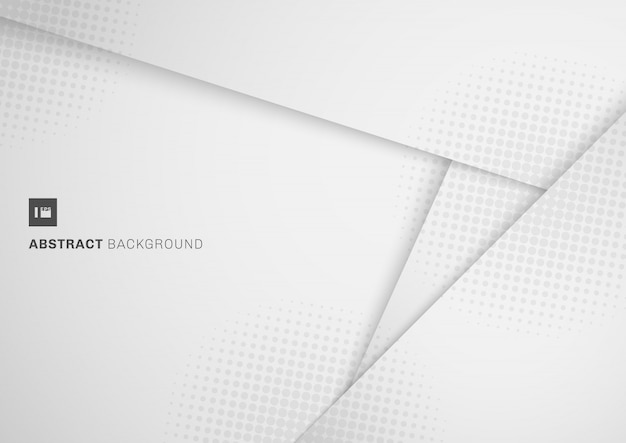 Abstract white and grey paper cut style background
