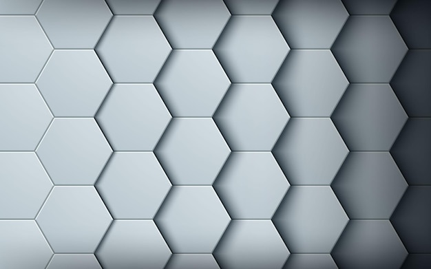 Abstract white hexagon texture background