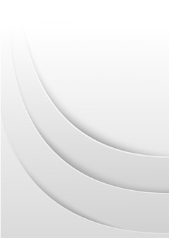 Abstract white layered background