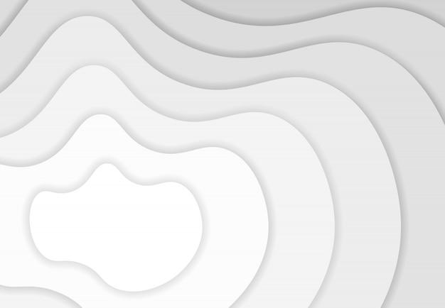 抽象的なホワイトペーパーは、自由な形状のレイヤーデザインの背景をカットしました。