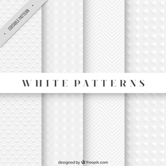Abstract white patterns