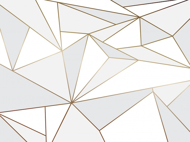 Abstract white polygon artistic geometric