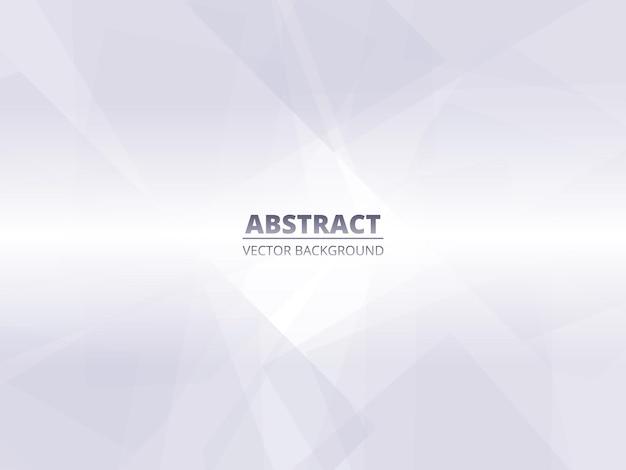 Абстрактный белый серебряный современный геометрический фон с полупрозрачными элементами.